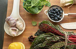 planche et légumes