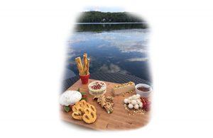 Planche de présentation au lac